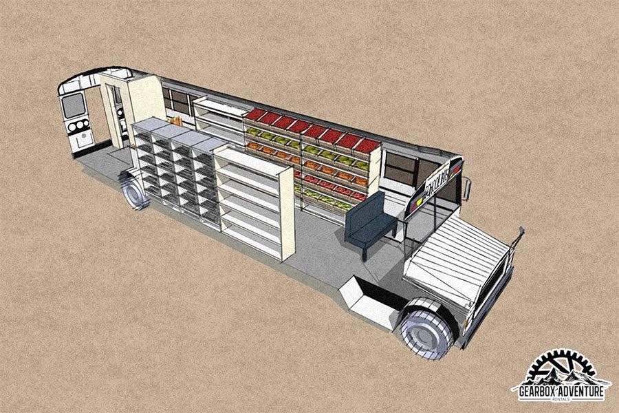 Rendering of food truck
