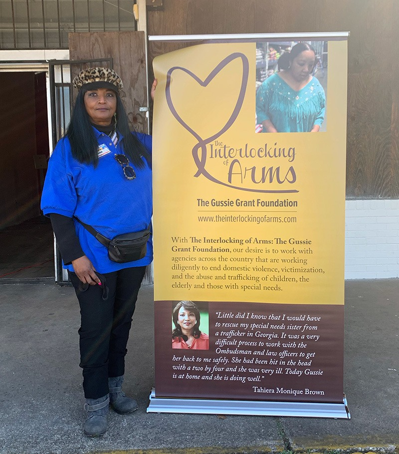 Tahiera Brown at Farmers to Families Ensley event