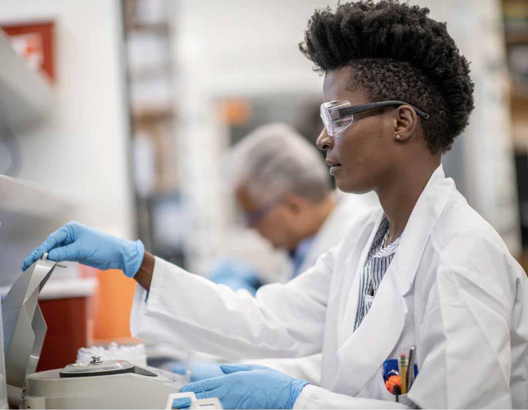 Young African-American Female Researcher
